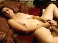 amateur ass cumshot dildo glasses homemade masturbation milf really