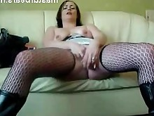 amateur homemade masturbation mature milf orgasm solo stocking toys