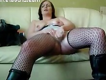 masturbation mature milf orgasm solo stocking toys amateur homemade