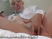 nipples tattoo smoking masturbation blonde