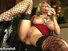 blonde bus busty crazy masturbation milf solo full-movie