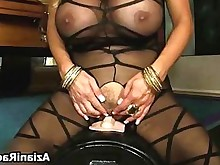 blonde bus busty crazy masturbation milf ride solo