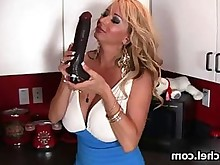 blonde bus busty fingering horny masturbation milf orgasm shaved