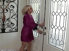 blonde dress handjob juicy mature nasty undressing