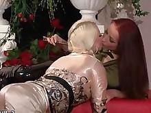 blonde erotic horny juicy lesbian redhead