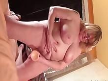 blonde curvy dildo granny masturbation mature nipples pussy