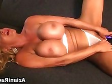 babe big-tits blonde dildo masturbation milf playing solo toys