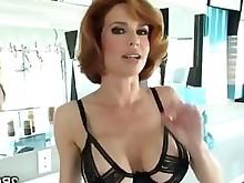 big-tits boobs milf pornstar redhead stunning tease