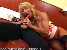 blonde blowjob dildo masturbation mature shaved sport sucking