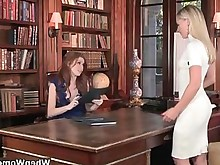 blonde brunette juicy lesbian stocking