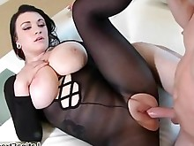 horny natural prostitut sucking full-movie blowjob brunette bus busty