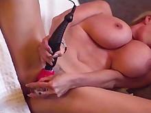 big-tits blonde vibrator