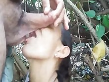amateur blowjob brunette big-cock milf oral outdoor sucking wife