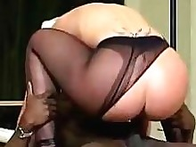 black blonde blowjob fetish nylon panties ride shaved stocking