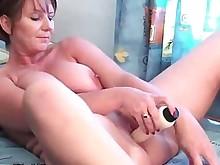dildo fuck masturbation mature milf solo vibrator