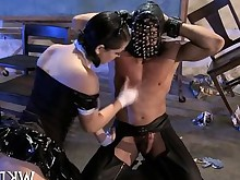 blowjob boss brunette fuck hardcore latex mature pornstar slave