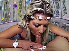 ass blonde blowjob handjob milf pov schoolgirl