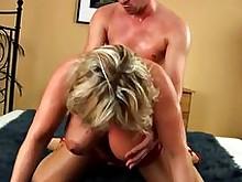 big-tits blonde milf