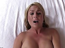 blonde creampie juicy milf pleasure pov