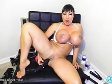 amateur anal ass big-tits brunette cougar dildo masturbation mature