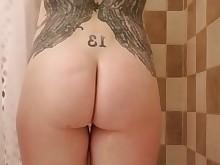 amateur fuck milf redhead shower tattoo