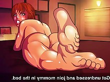anime cum cumshot feet foot-fetish hentai mammy pleasure funny