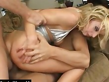 anal ass blonde blowjob deepthroat double-penetration foursome fuck hardcore