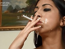 cumshot facials hidden-cam milf playing smoking