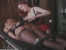 ass bdsm blonde fetish hardcore milf redhead spanking stocking