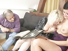 double-penetration friends girlfriend granny group-sex mammy mature milf old-and-young