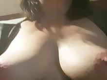amateur brunette fingering horny mature milf pussy striptease wife