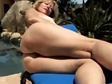 blonde fingering masturbation mature milf outdoor slender