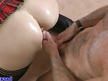 anal close-up creampie cumshot fingering fuck high-heels hot mature