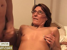 big-tits blowjob boobs brunette big-cock cumshot doggy-style foursome hot