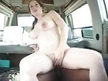 big-tits boobs brunette car cumshot gang-bang mammy milf outdoor