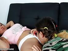 amateur ass babe big-tits brunette curvy lesbian licking milf