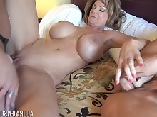 big-tits boobs brunette cougar double-penetration lesbian mammy mature milf