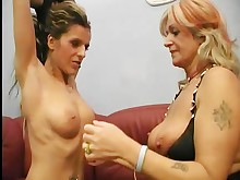 big-tits blonde boobs brunette daughter friends fuck high-heels kiss