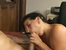 blowjob fuck hairy mature milf office