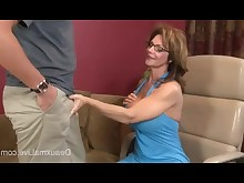 big-tits blowjob brunette cum cumshot handjob mammy mature pornstar