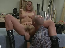 bdsm big-tits blonde blowjob boobs close-up big-cock couple doggy-style
