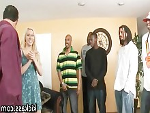 ass black blonde big-cock doggy-style gang-bang group-sex hardcore huge-cock