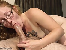 amateur ass babe blowjob big-cock cum cumshot glasses hot