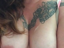 amateur boobs milf nipples pov tattoo