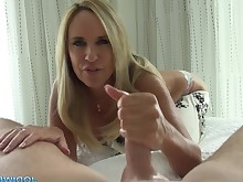 bedroom big-tits blonde boobs dolly handjob hot mammy milf